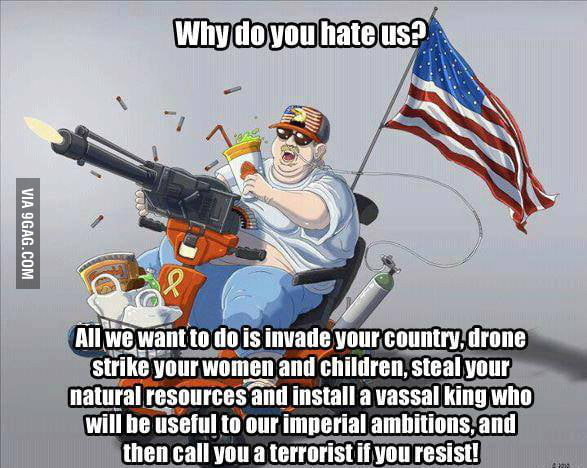 USA - If you don't want freedom, we'll still give you freedom.