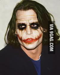 Saw this pic on facebook... Johnny Depp as Joker anyone ...