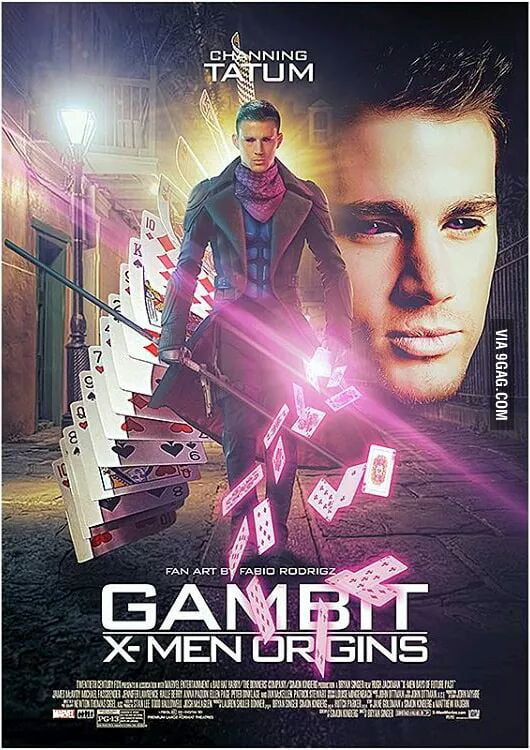 The Official movie poster for upcoming film Gambit with ...