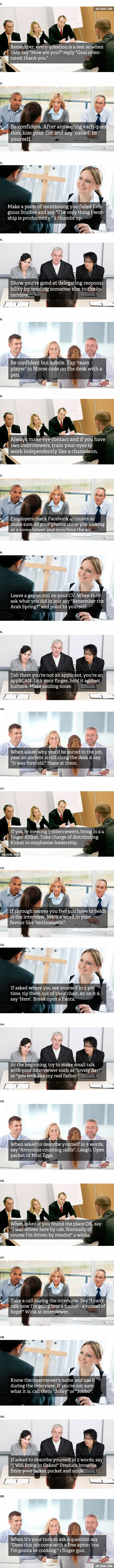 20 essential job interview tips 9gag 20 essential job interview tips