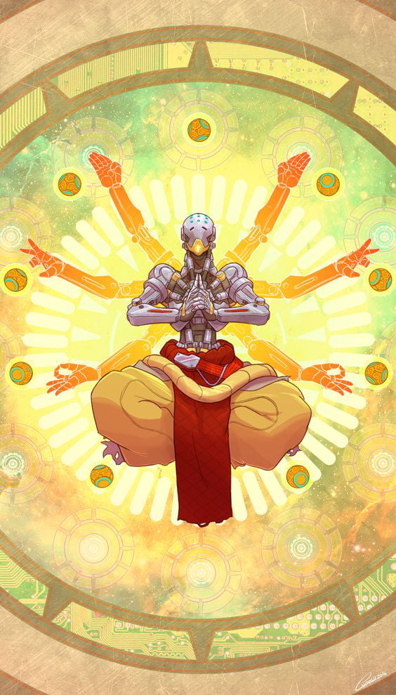 I Ll Be Daily Posting Overwatch Wallpapers Here S A Zenyatta One 9gag