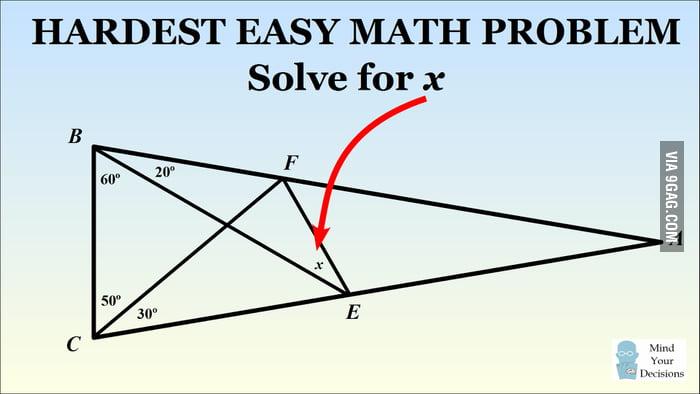 hardest easy math problem