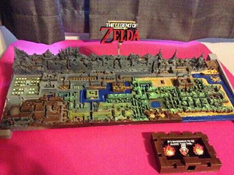 3D printed original NES Zelda map by Mike Matei - 9GAG