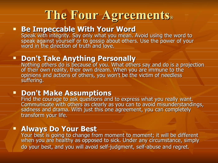 9gaggers Should Definitely Read The Book The Four Agreements By