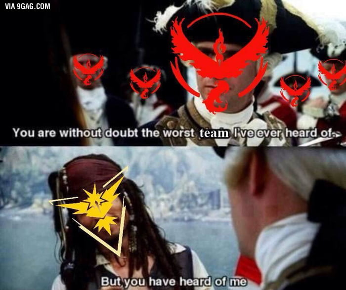 Shout out to my Team Instinct Family - 9GAG