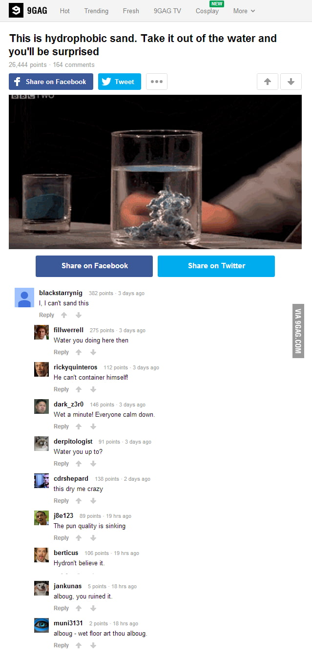 Seriously, the puns are floating  - 9GAG