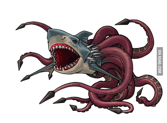 "This is a sharktopus, fronm the new movie ""Sharktopus Vs ..."