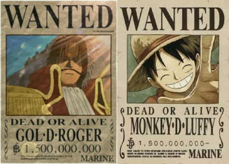 Luffy S New Bounty Compared To Gol D Roger S 9gag