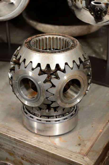 Industrial Gear Sculpture