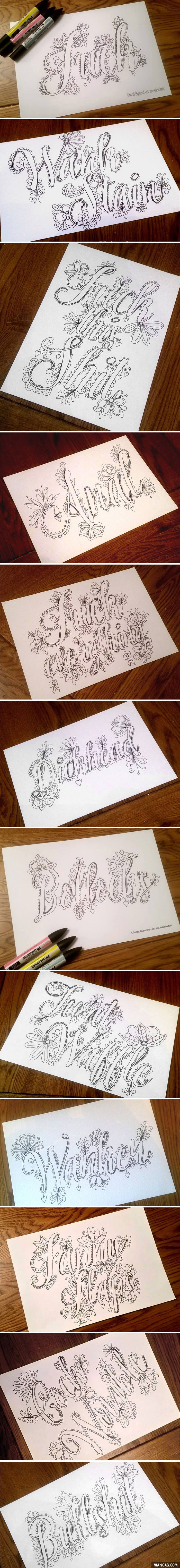 Fancy swear words coloring book - This Fancy Swear Word Coloring Book Will Stop You From Swearing To Coloring