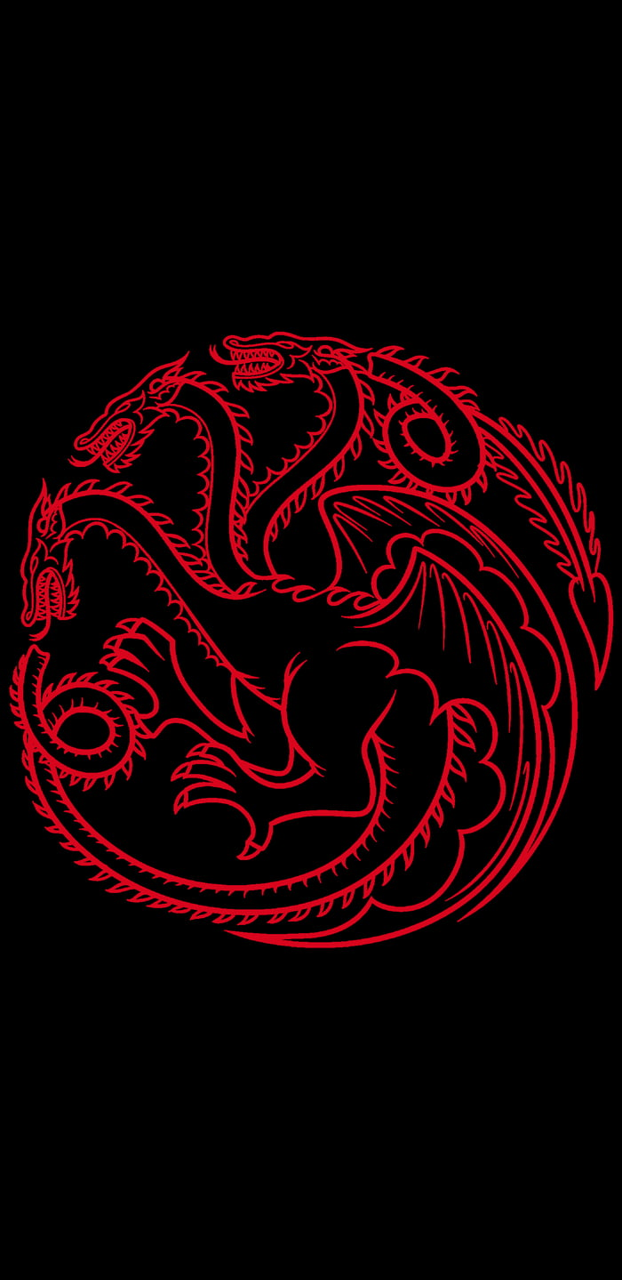 House Targaryen Sigil 1440x2960 9gag