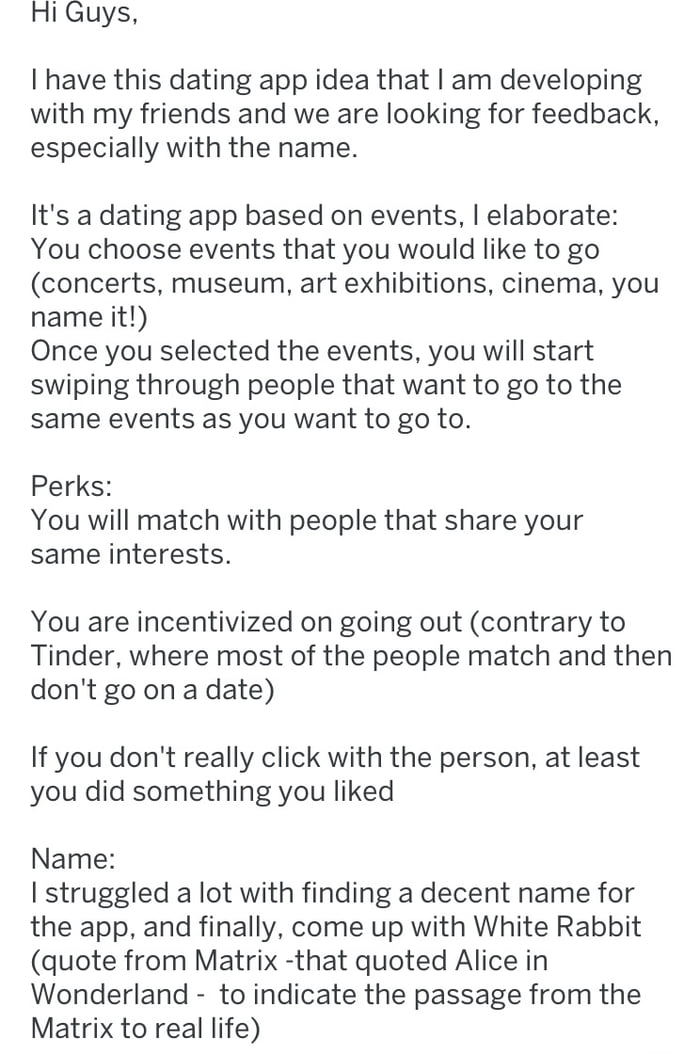 Dating app idea - 9GAG