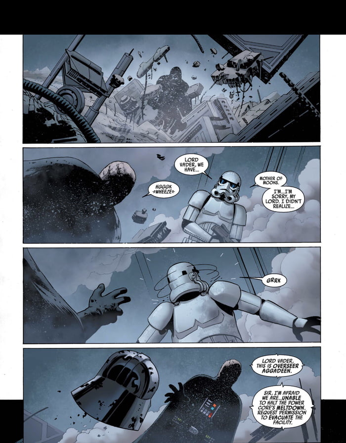First and last stormtrooper to see Vader's face