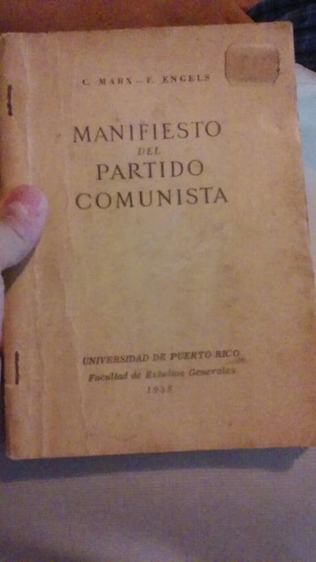 The Communist Manifest From 1955 In Spanish 9gag