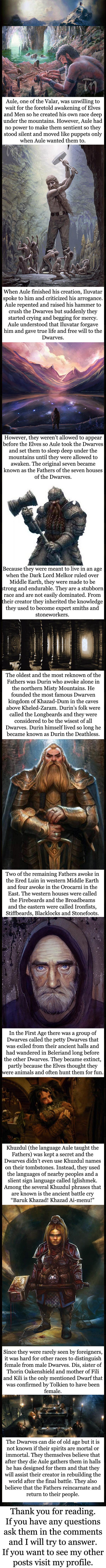 Tolkien lore - The Dwarves - 9GAG