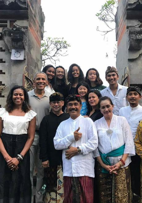 Obama visiting my vilage Ubud Bali :D