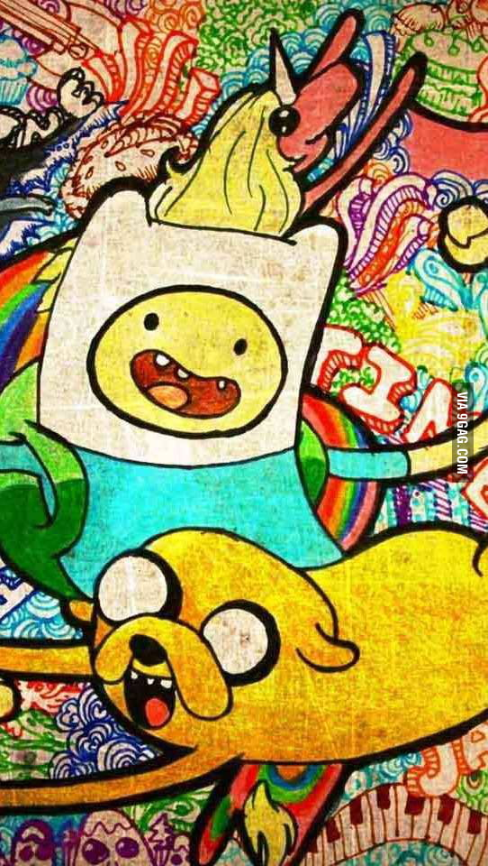 Awesome adventure time drawing made with markers