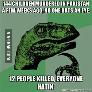 My condolences to all the families, but this hurts. (Yes, I'm a Pakistani)