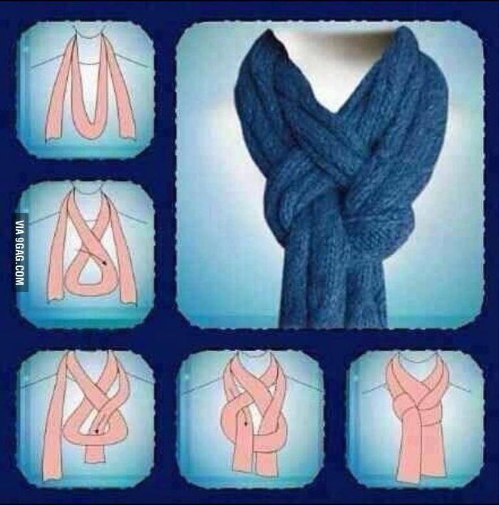 Как красиво завязать легкий шарф