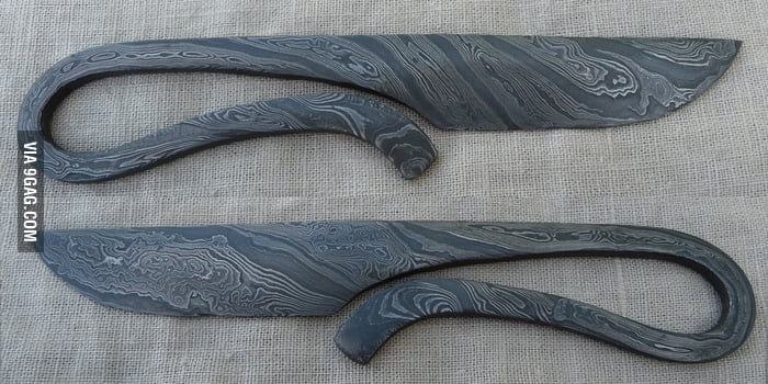 Amazing Medieval Bushcraft Knife Made From Pattern Welded Steel 60GAG Classy Pattern Welded Steel