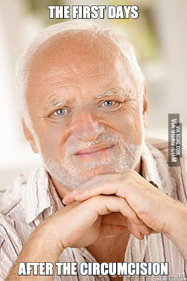 aAVwLRR_700b to the guy introduced the new meme hide the pain harold 9gag