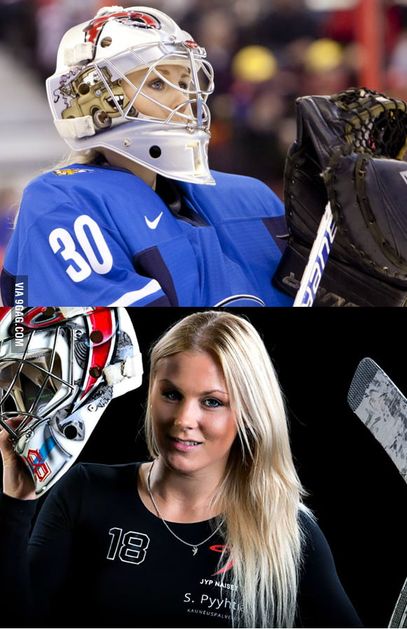 Finlands Hot Hockey Goalie O 9gag