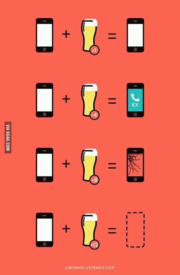"The study behind the logic of ""phone + beer"""