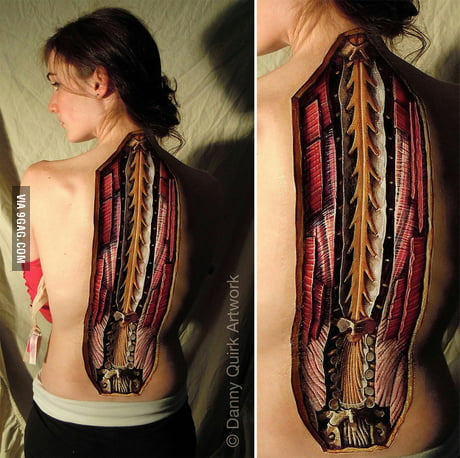More Anatomical Body Art For Med Students 9gag