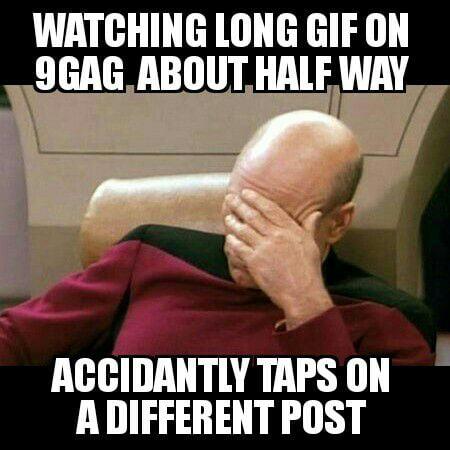 Mobile 9gag problems