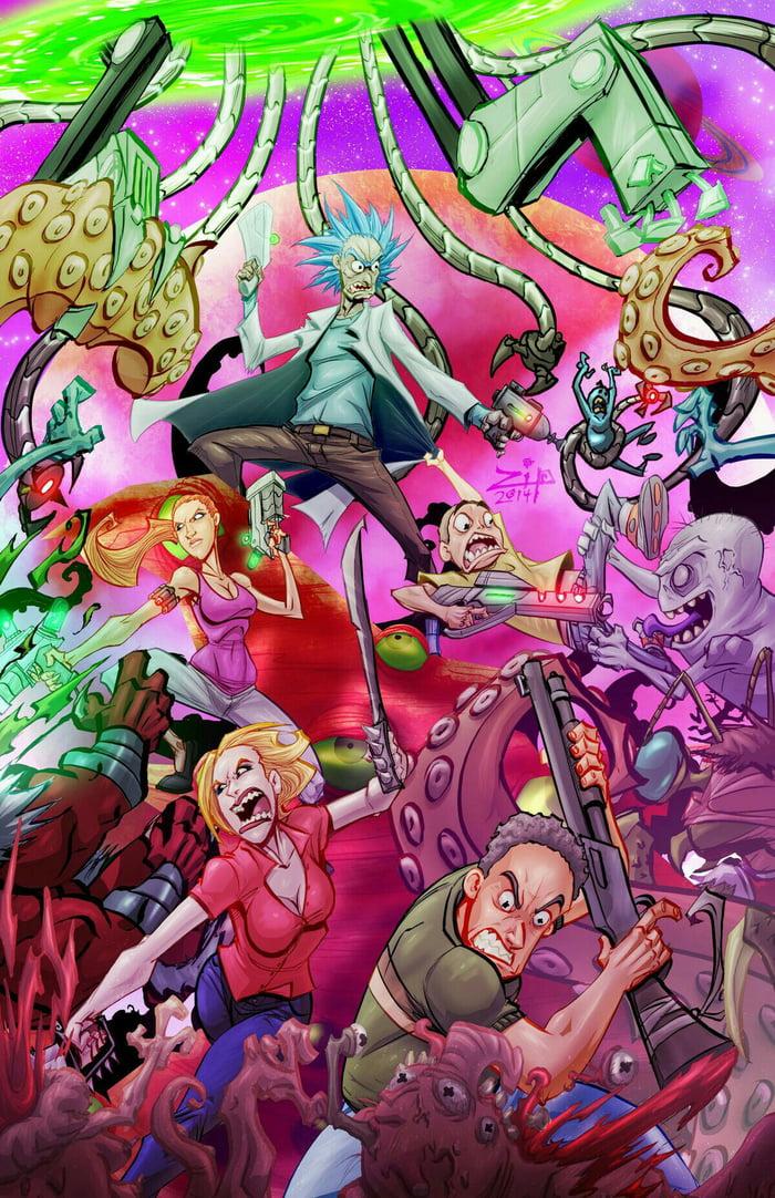Rick and Morty wallpaper Nr. 1 - 9GAG