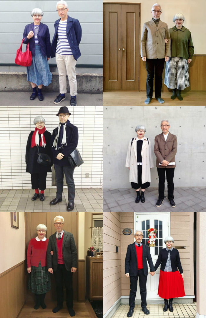 c913d62d2b This japanese couple (@bonpon511) married for 37 years always dress in matching  outfit