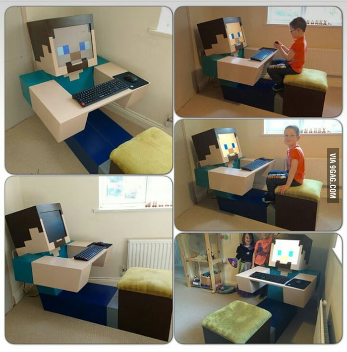 Guy Made This Minecraft Pc For His Kid 9gag