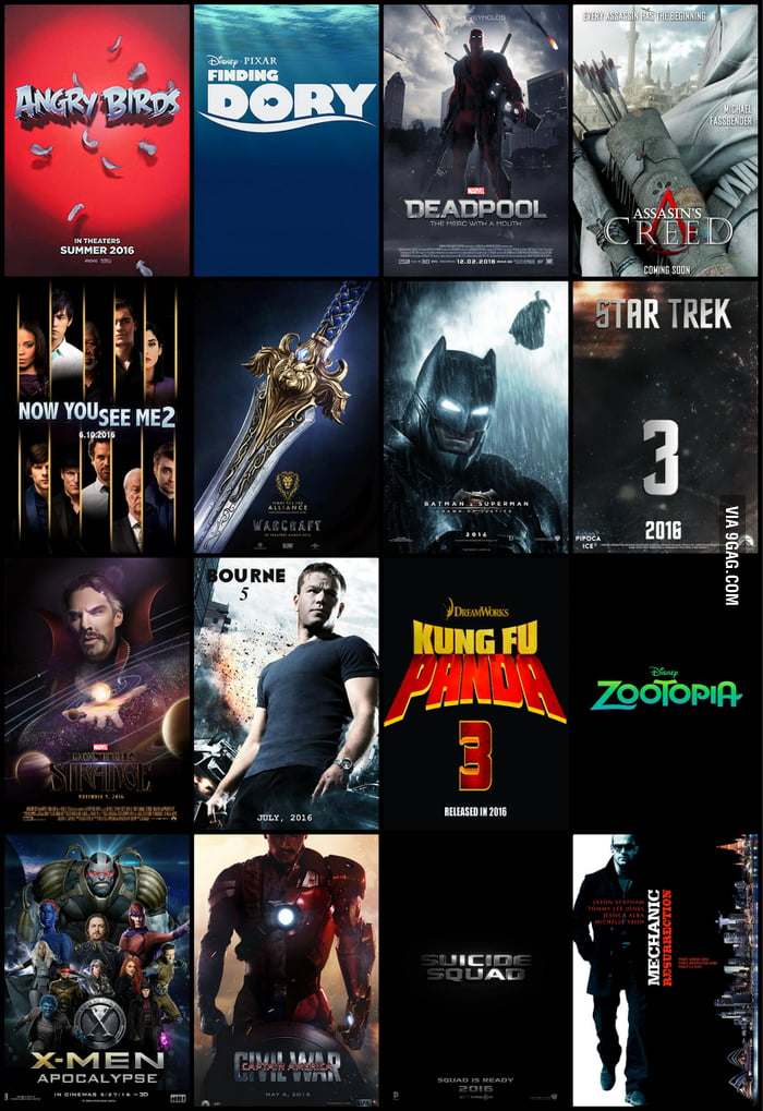 Movies to be released in 2016. - 9GAG