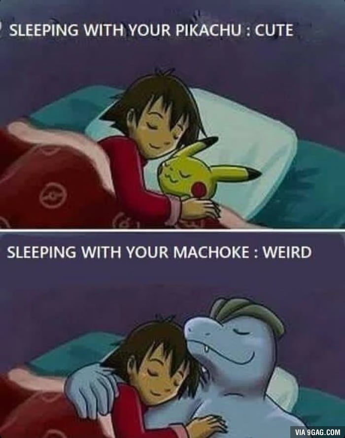 Sleeping with your pokemon guide.
