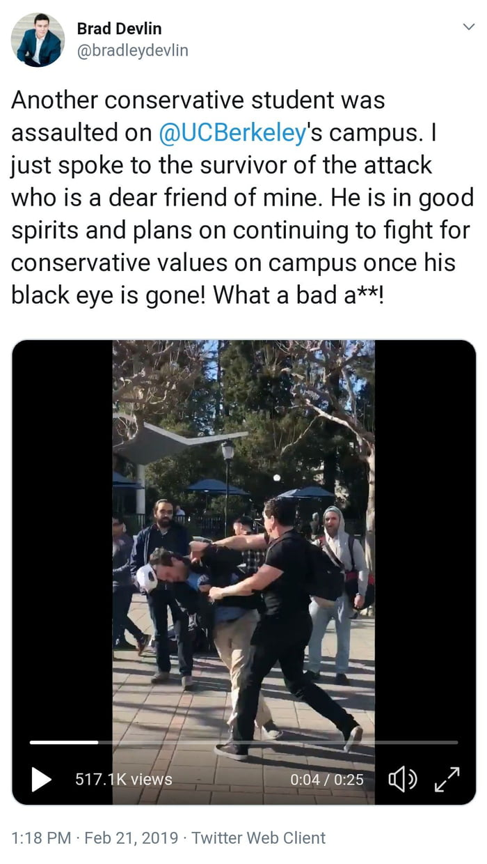 Right wing chud gets his ass beat by