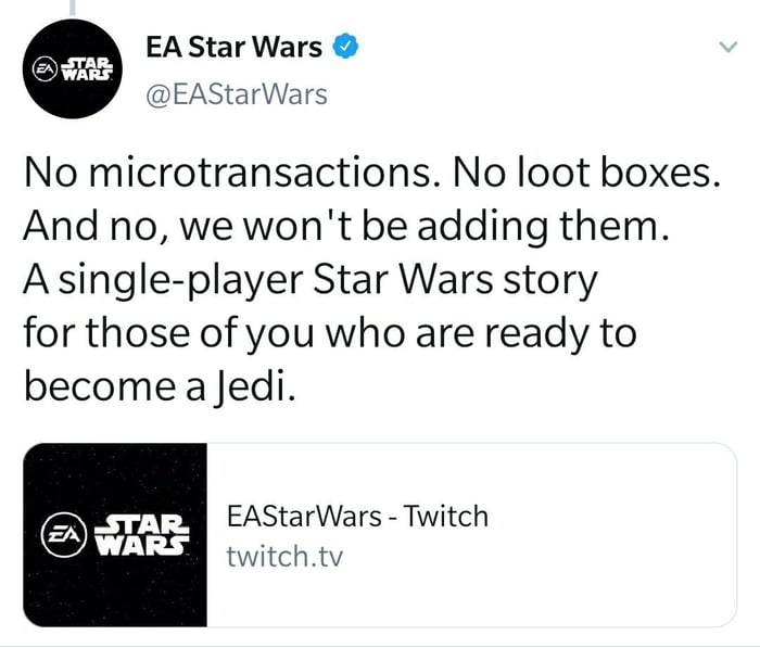 Ea Is Promising Something Unprecedented On Their New Game With