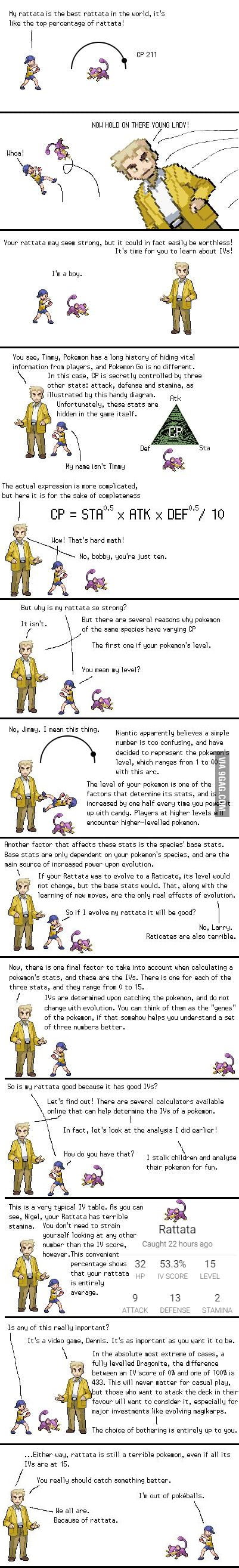 The Pokemon Go IV system explained - 9GAG