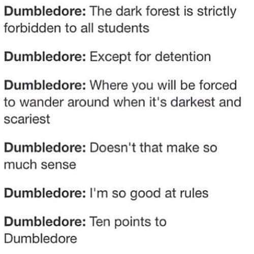 Just Dumbledore things