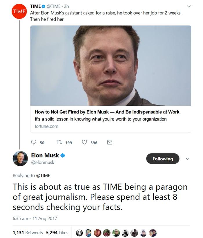 Elon getting savage