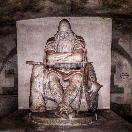 Holger Danske was a fearsome Viking warrior. According to ancient legends he never died. Instead he sleeps in the cellar of Kronborg Castle