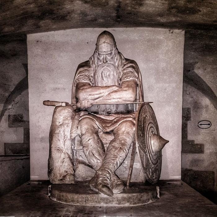 Holger Danske was afearsome Viking warrior. According to ancient legends he never died. Instead he sleeps in the cellar of Kronborg Castle