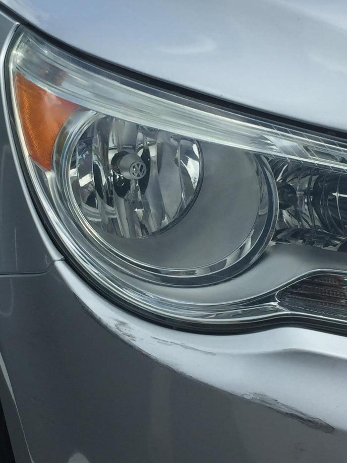 This Volkswagen Has Little Volkswagen Symbols In The Headlight 9gag