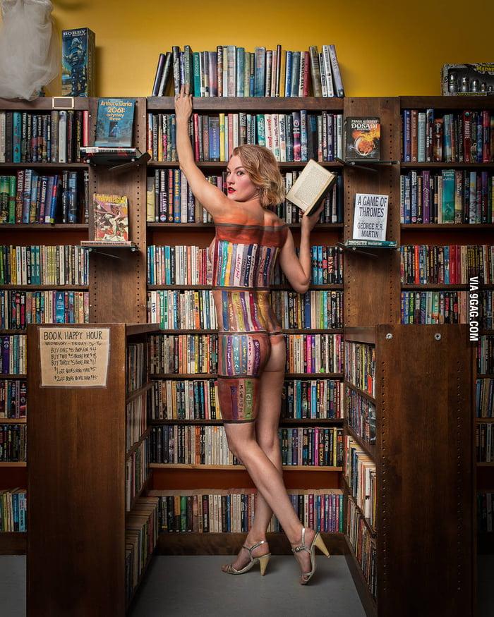 A bookseller amongst her books