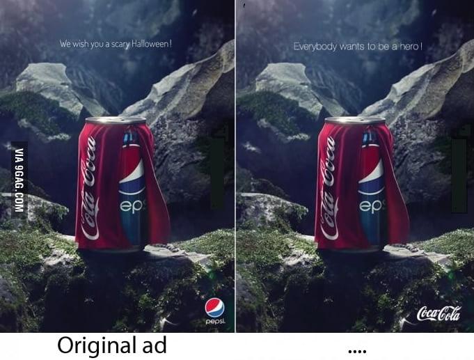 Pepsi vs Coke - We wish you a scary Halloween