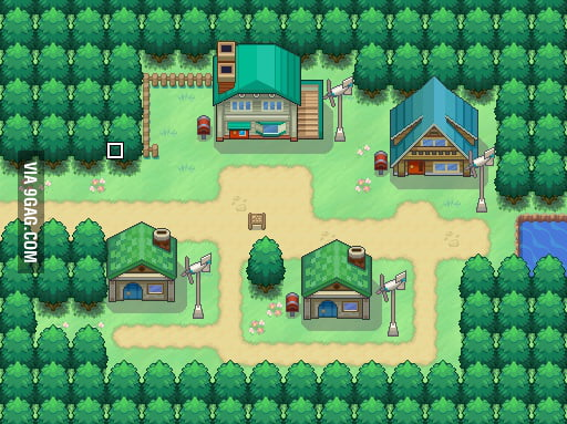 Started a new project on RPG Maker (New Bark Town)  This