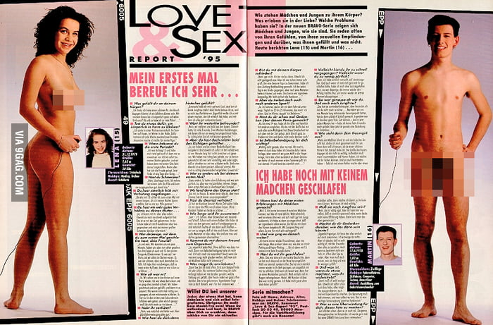 nude Bravo boy german magazine