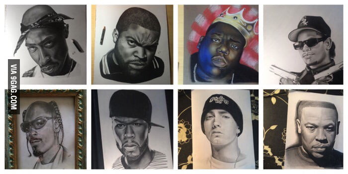 Amazing Drawings Of Famous Rappers 9gag