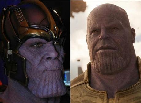 Damion Poitier as Thanos VS Josh Brolin as Thanos - 9GAG