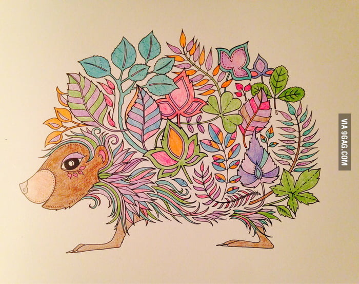 My First Attempt At An Adult Colouring Book