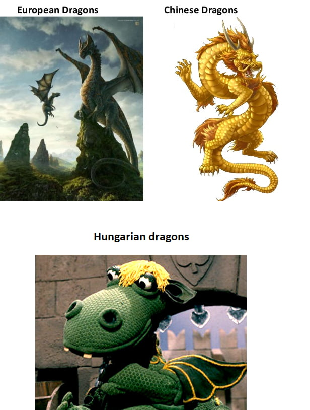 Different kind of Dragons (I know Hungary is in Europe ) - 9GAG